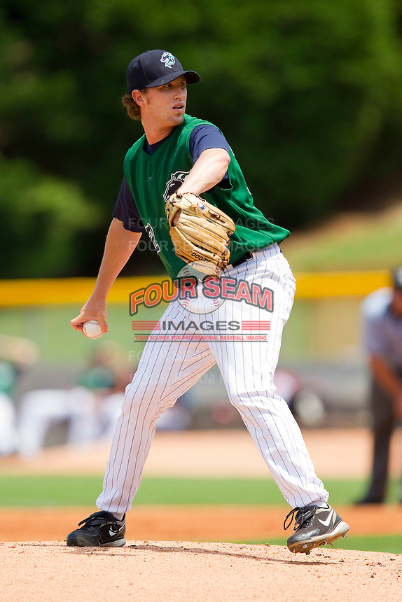 Starting pitcher Matt Zaleski #22 of the Charlotte Knights in action against the Syracuse Chiefs at Knights Stadium on June 19, 2011 in Fort Mill, South Carolina.  The Knights defeated the Chiefs 10-9.    (Brian Westerholt / Four Seam Images)