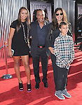 Sugar Ray Leonard & family at The Dreamworks Studio's L.A. Premiere of REAL STEEL held at Universal CityWalk in Universal City, California on October 02,2011                                                                               © 2011 Hollywood Press Agency