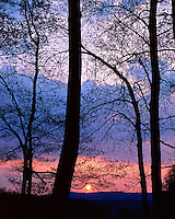 Sunset in Cades Cove; Great Smoky Mountains National Park, TN