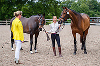 GBR-Rosalind Canter with Pencos Crown Jewel and Lordships Graffalo during the First Horse Inspection for the CCI-L 4*. 2021 GBR-Bicton International Horse Trials. Devon. Great Britain. Copyright Photo: Libby Law Photography