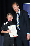 St Johnstone FC Youth Academy Presentation Night at Perth Concert Hall..21.04.14<br /> Alec Cleland presents to Jordan Northcott<br /> Picture by Graeme Hart.<br /> Copyright Perthshire Picture Agency<br /> Tel: 01738 623350  Mobile: 07990 594431