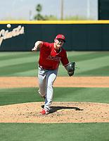 Zach Linginfelter - Los Angeles Angels 2021 spring training (Bill Mitchell)