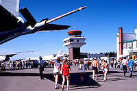 Probe on Military Aircraft for Probe-and-Drogue Refueling in Air - at Abbotsford International Airshow, BC, British Columbia, Canada