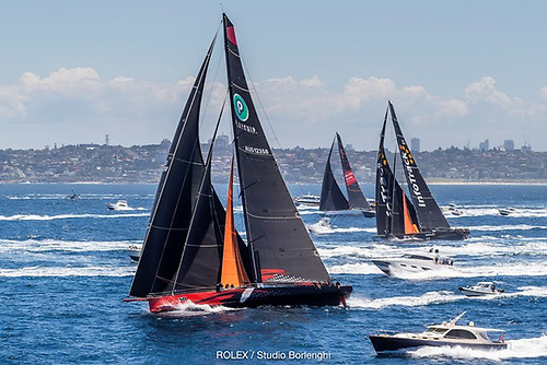 This should have been this morning's header photo – the start of the Rolex Sydney-Hobart Race