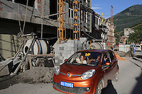 Construction in the town of Heishui on the south-east edge of the Tibetan Plateau in Sichuan Province, western China.