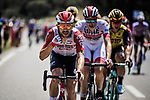 Lotto-Soudal on the front of the peloton during Stage 16 of the 2019 Tour de France running 177km from Nimes to Nimes, France. 23rd July 2019.<br /> Picture: ASO/Pauline Ballet   Cyclefile<br /> All photos usage must carry mandatory copyright credit (© Cyclefile   ASO/Pauline Ballet)