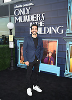 """NEW YORK CITY - AUG 24: Amir Arison attends the screening of Hulu's """"Only Murders in the Building"""" at The Greens at Pier 17 on August 24, 2021 in New York City. (Photo by Frank Micelotta/Hulu/PictureGroup)"""