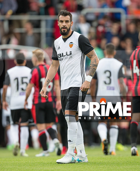 Transfer Target Alvaro Negredo of Valencia during the Friendly match between Bournemouth and Valencia  at the Goldsands Stadium, Bournemouth, England on 30 July 2017. Photo by Andy Rowland.