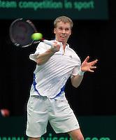 10-02-12, Netherlands,Tennis, Den Bosch, Daviscup Netherlands-Finland,  Timo Nieminnen