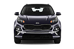 Car photography straight front view of a 2019 KIA Sportage More 5 Door SUV