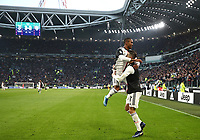 Calcio, Serie A: Juventus - Cagliari, Turin, Allianz Stadium, January 6, 2020.<br /> Juventus' Cristiano Ronaldo (r) celebrates after scoring his third goal in the match with his teammate Douglas Costa (l) during the Italian Serie A football match between Juventus and Cagliari at Torino's Allianz stadium, on January 6, 2020.<br /> UPDATE IMAGES PRESS/Isabella Bonotto