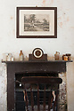 Fireplace in head gardener's office, Audley End.