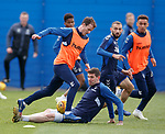 03.05.2019 Rangers training: Andy Halliday and Kyle Lafferty