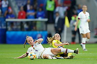 LE HAVRE, FRANCE - JUNE 20: Becky Sauerbrunn #4 during a 2019 FIFA Women's World Cup France group F match between the United States and Sweden at Stade Océane on June 20, 2019 in Le Havre, France.
