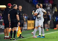 Orlando, FL - Wednesday July 31, 2019:  Antonio Adán #1, Jan Oblak #13 during an Major League Soccer (MLS) All-Star match between the MLS All-Stars and Atletico Madrid at Exploria Stadium.