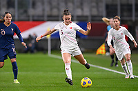 Swiss Lara Marti (5) pictured in action during the Womens International Friendly game between France and Switzerland at Stade Saint-Symphorien in Longeville-lès-Metz, France.
