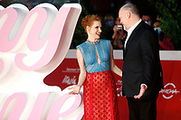 The American actors Jessica Chastain and Vincent D'Onofrio pose for photographers during the red carpet of the film The Eyes of Tammy Faye at the 16th edition of the Rome Film Fest . Rome (Italy), October 14th 2021<br /> Photo Samantha Zucchi Insidefoto