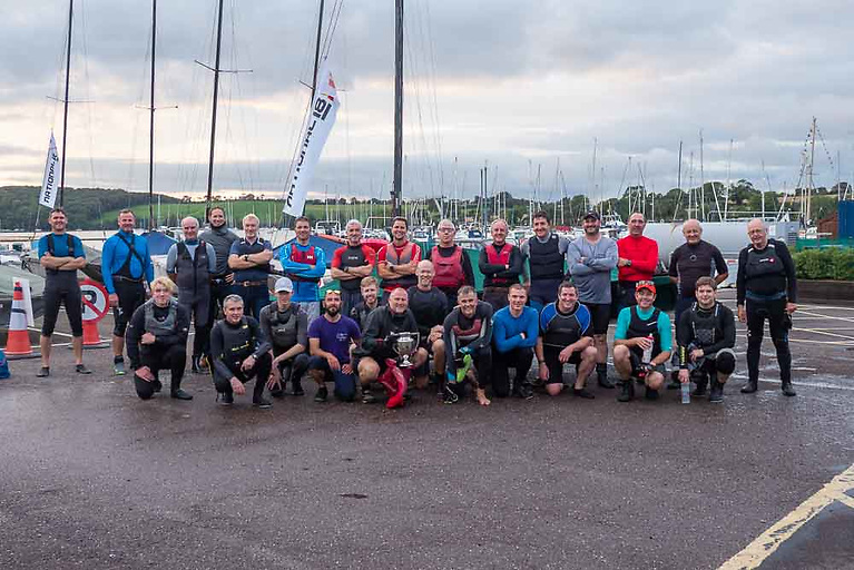 The National 18 fleet gathered at Royal Cork for the annual River Race