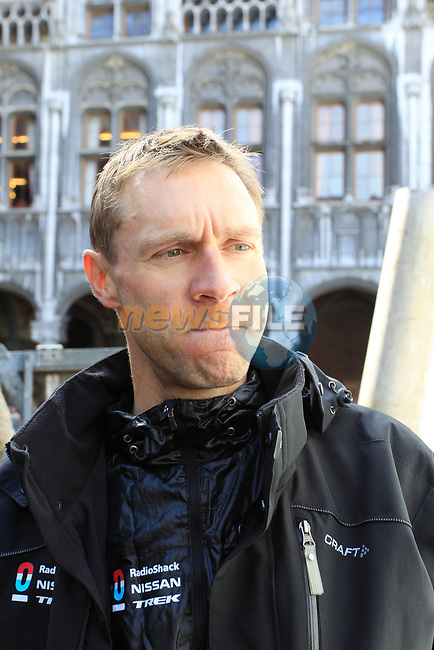 Jens Voigt (GER) Radioshack-Nissan at the team presentations at the Palais Provincial in Liege city centre before the 98th edition of Liege-Bastogne-Liege 2012. 21st April 2012.  <br /> (Photo by Eoin Clarke/NEWSFILE).