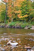 Ammonoosuc River in Carroll, New Hampshire USA.