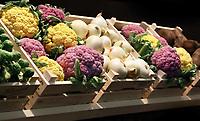 Nederland - Amsterdam - Januari 2019.  HORECAVA. Gekleurde bloemkool. Foto Berlinda van Dam / Hollandse Hoogte