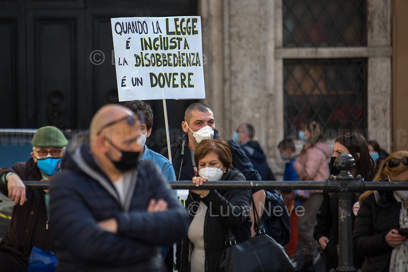 Animal rights protester...<br />
