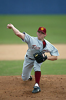 New York Yankees first round draft pick in 2006 Ian Kennedy of the USC Trojans pitches in a NCAA baseball game during the 2005 season in Los Angeles, California. (Larry Goren/Four Seam Images)