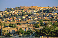 Tunisia, Le Kef.  The citadel above the town dominates the area.  Note communications tower juxtaposed to centuries-old fort.