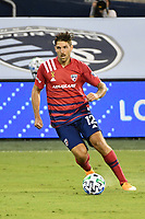 KANSAS CITY, KS - SEPTEMBER 02: Ryan Hollingshead #12 of FC Dallas on the ball during a game between FC Dallas and Sporting Kansas City at Children's Mercy Park on September 02, 2020 in Kansas City, Kansas.