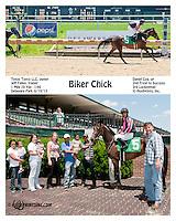 Biker Chick winning at Delaware Park on 6/19/13