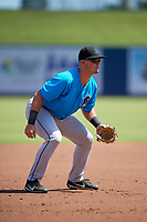 Miami Marlins third baseman Nic Ready (40) during an Instructional League game against the Washington Nationals on September 26, 2019 at FITTEAM Ballpark of The Palm Beaches in Palm Beach, Florida.  (Mike Janes/Four Seam Images)