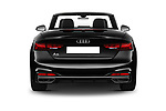 Straight rear view of 2021 Audi A5-Cabriolet Avus 2 Door Convertible Rear View  stock images