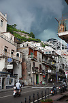 Storm clouds close in on the township of Maiori on the Amafi Coast of Italy.