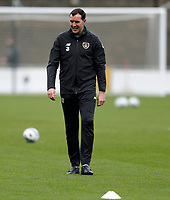 15th November 2020; Tallaght Stadium, Dublin, Leinster, Ireland; 2021 Under 21 European Championships Qualifier, Ireland Under 21 versus Iceland U21; Republic of Ireland coach John O'Shea oversees the warm up