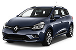 2017 Renault Clio Intnse 5 Door Wagon Angular Front stock photos of front three quarter view