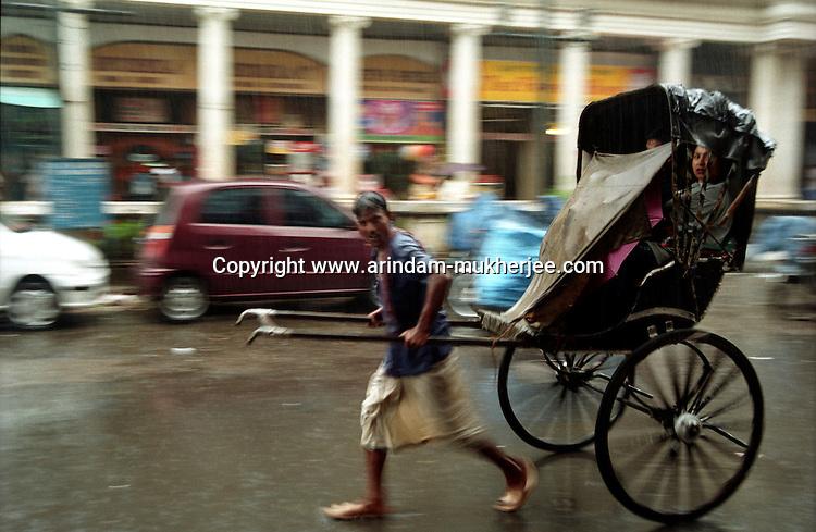 Rickshaw Puller  in Calcutta, India