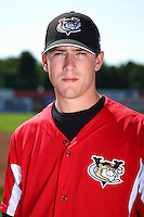 Tri-City ValleyCats shortstop Jacke Healey #5 poses for a photo before a game against the Batavia Muckdogs at Dwyer Stadium on July 15, 2011 in Batavia, New York.  Batavia defeated Tri-City 4-3.  (Mike Janes/Four Seam Images)