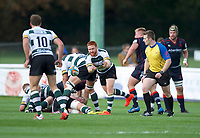 Danny Qualter of Nottingham Rugby during the Greene King IPA Championship match between London Scottish Football Club and Nottingham Rugby at Richmond Athletic Ground, Richmond, United Kingdom on 16 September 2017. Photo by Alan  Stanford.
