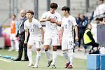 South Korea's Jae Sung Lee, Taehwi Kwak and Se Jong Ju during friendly match. June 1,2016.(ALTERPHOTOS/Acero)