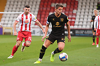 Danny Newton of Stevenage F.C. and Callum Brittain during Stevenage vs MK Dons, EFL Trophy Football at the Lamex Stadium on 6th October 2020