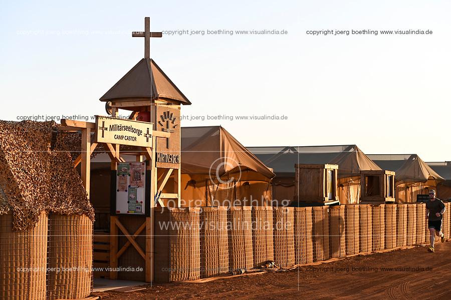 MALI, Gao, Minusma UN peace keeping mission, Camp Castor, german army Bundeswehr , camp church / Martinskirche im Zelt