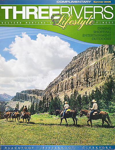 Nelson Kenter photo of horse riders near the Chinese Wall used on a magazine cover