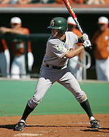 Baylor SS Beamer Weems prepares to bat against Texas on May 3rd, 2008. Photo by Andrew Woolley / Four Seam Images