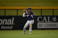 AZL Padres 1 left fielder Victor Nova (2) during an Arizona League game against the AZL Cubs 1 on July 5, 2019 at Sloan Park in Mesa, Arizona. The AZL Cubs 1 defeated the AZL Padres 1 9-3. (Zachary Lucy/Four Seam Images)