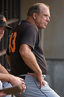 Frederick Keys manager Richie Hebner #43 at Wake Forest Baseball Stadium August 6, 2009 in Winston-Salem, North Carolina. (Photo by Brian Westerholt / Four Seam Images)