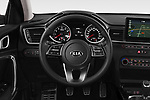 Car pictures of steering wheel view of a 2019 KIA Ceed More 5 Door Hatchback Steering Wheel