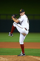 Salt River Rafters pitcher Adam Miller (47) delivers a pitch during an Arizona Fall League game against the Scottsdale Scorpions on October 13, 2015 at Salt River Fields at Talking Stick in Scottsdale, Arizona.  Salt River defeated Scottsdale 5-3.  (Mike Janes/Four Seam Images)