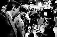 Gille Latulippe at Montreal Salon du Livre, November 24, 1985