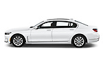 Car driver side profile view of a 2020 BMW 7 Series 740i Luxury 4 Door Sedan