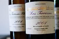 Cuvee Les Terrasses 2003 Domaine des Schistes, Estagel, Tautavel. Roussillon. France. Europe. Bottle.